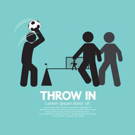 Throw in Soccer Or Football Symbol Vector Illustration