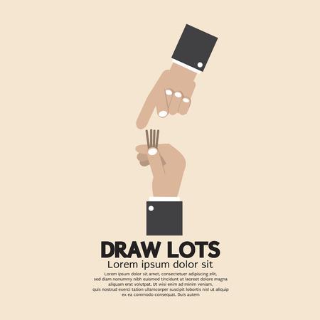 Draw Lots, Risk Taking Concept Vector Illustration Vector