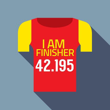 finisher: Finisher Tee Of Marathon Runner Vector Illustration Illustration