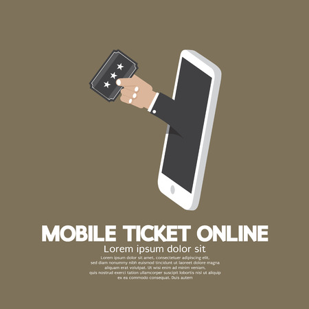 ticketing: Mobile Ticket Online Concept Vector Illustration Illustration