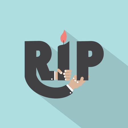 banner of peace: Rest In Peace Typography Design Vector Illustration