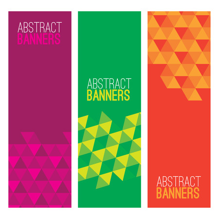 vertical banner: Set Of Three Abstract Banners Vector Illustration