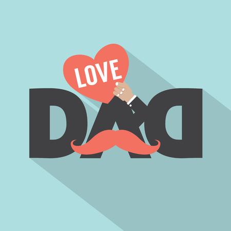 Love Dad Typography Design Vector Illustration Illustration
