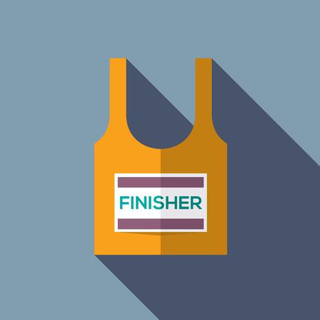 finisher: Finisher Singlet Of Marathon Runner Vector Illustration