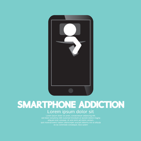 obsessed: Ilustraci�n Smartphone Addiction Concept Vector