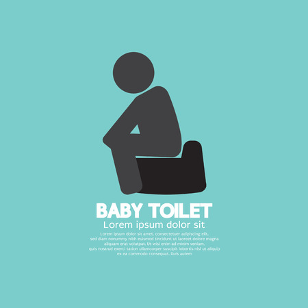 Black Symbol Baby Toilet Vector Illustration