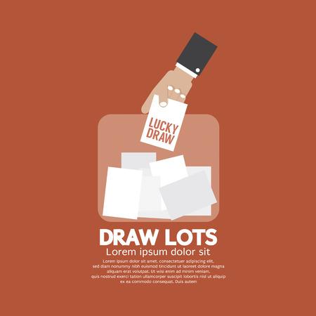 loteria: Sorteo, la toma de riesgos concepto de ilustración vectorial