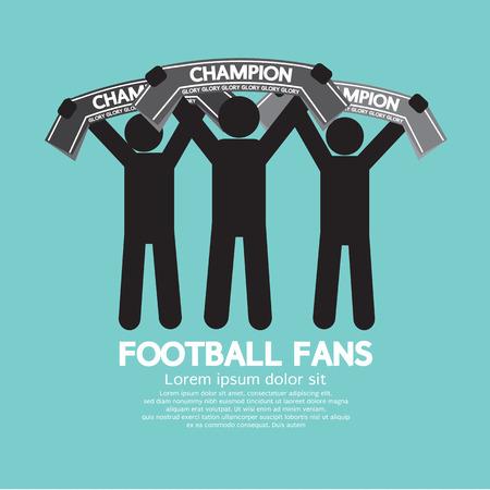 foulards: I tifosi di calcio con illustrazione Champion Sciarpe vettoriale
