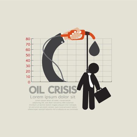 ahorcado: Ahorcado en crisis del petr�leo Gr�fico Ilustraci�n Vector