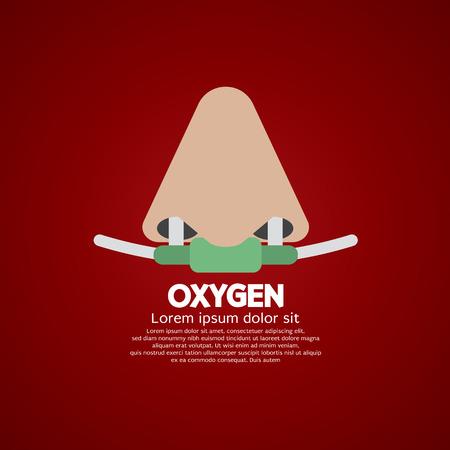 oxigeno: Ox�geno respiratoria nasal Ilustraci�n Vector Cat�ter Vectores