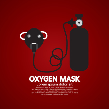 oxygen mask: Oxygen Mask With Tank Vector Illustration