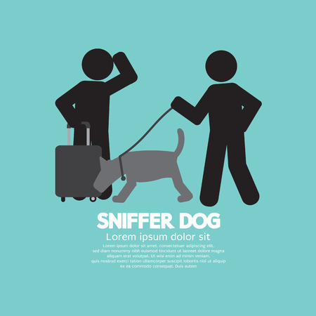 sniffer: Sniffer Dog Smell At Traveller