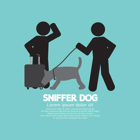 sniffer: Sniffer Dog Smell At Traveller