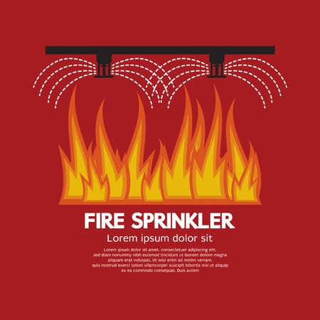 火災スプリンクラー生活安全ベクトル図