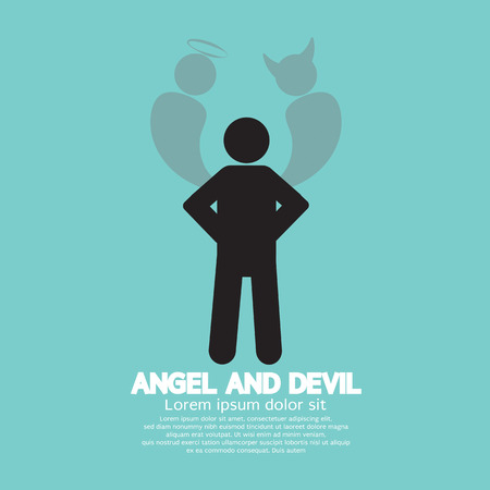 Angel And Devil Dark Side And Bright Side Of Human