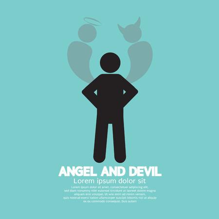 dark angel: Angel And Devil Dark Side And Bright Side Of Human