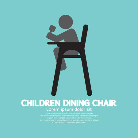 vector chair: Children Dining Chair Vector Illustration