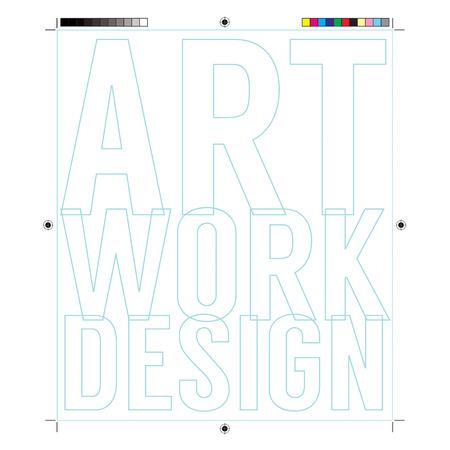 etalonnage: Cadre de document avec des �l�ments d'�talonnage Imprimer Illustration