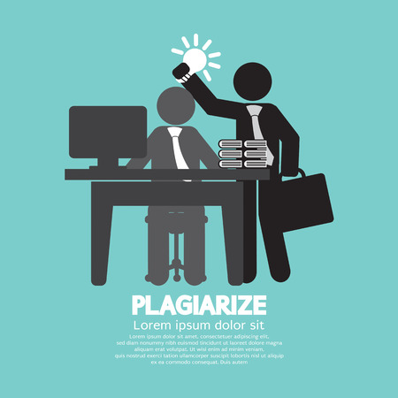 steal brain: Idea Stolen Symbol Graphic Plagiarize Concept Vector Illustration Illustration