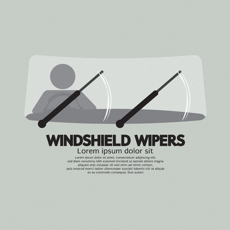 wipers: Windshield Wipers Car Parts Vector Illustration