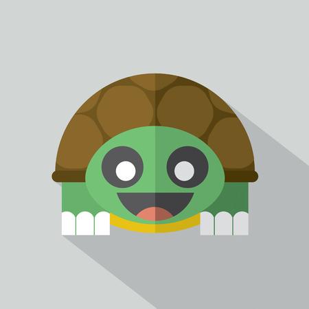 turtle isolated: Modern Flat Design Turtle Icon Vector Illustration Illustration