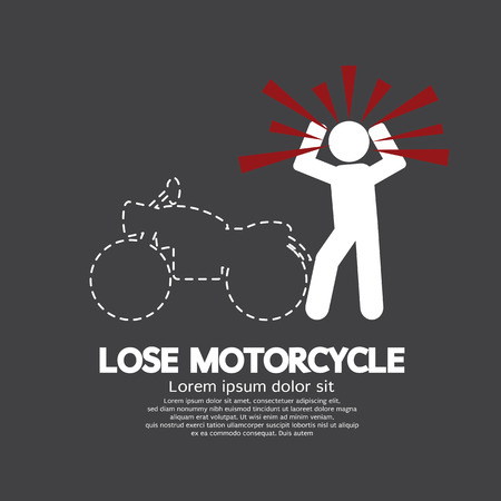 disappear: Lose Motorcycle Concept Graphic Symbol Illustration