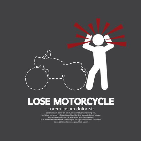 Lose Motorcycle Concept Graphic Symbol Illustration