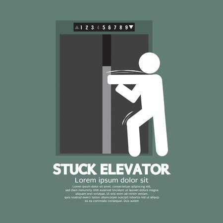 Stuck Elevator Symbol Graphic Symbol Illustration Illustration