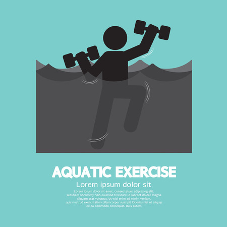 Zwarte Symbool Aquatic Exercise Vector Illustration