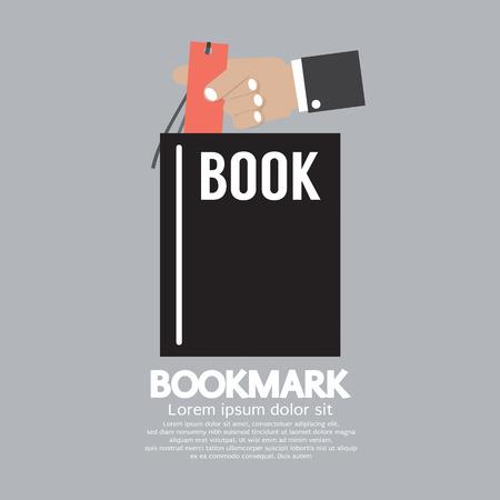 reviser: Avec Bookmark livre dans la main illustration vectorielle