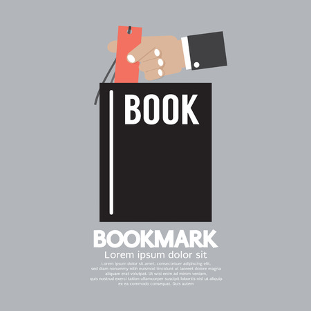 Book With Bookmark In Hand Vector Illustration