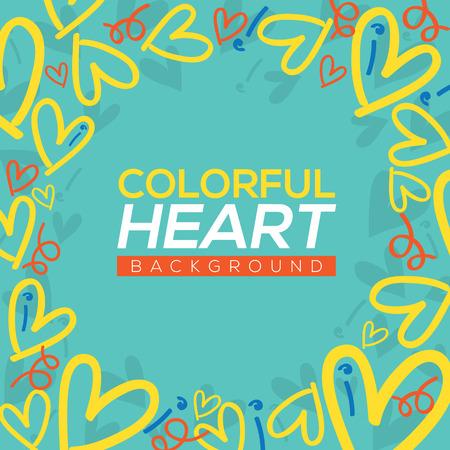 hearts background: Colorful Hearts Background Vector Illustration Illustration