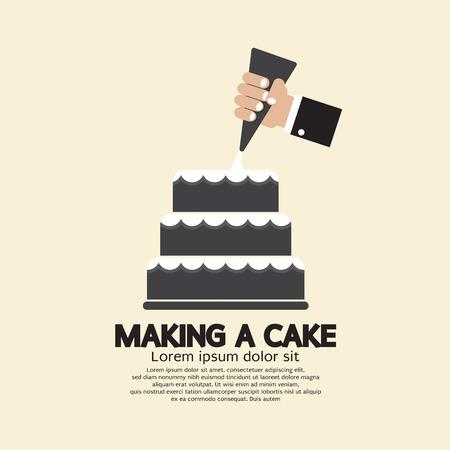 cake: Haciendo Una ilustración vectorial de la torta