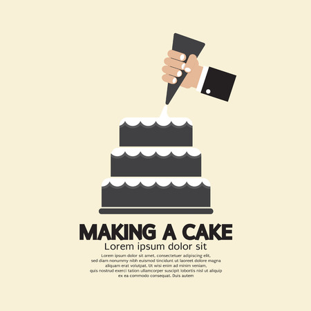 wedding cake: Making A Cake Vector Illustration