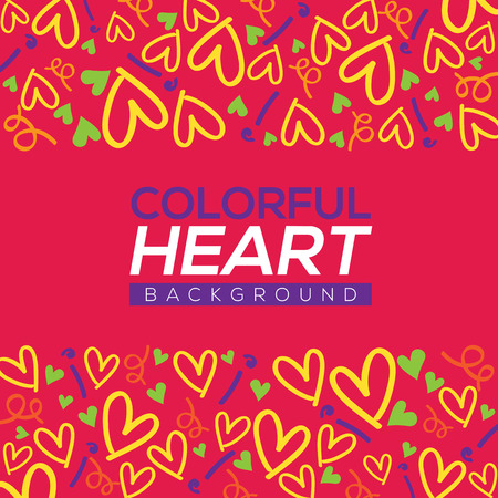 hearts background: Colorful Hearts Background Vector Illustration Illustration