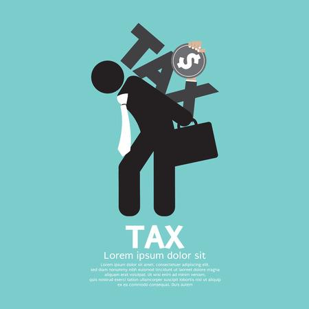 Taxe sur l'illustration du dos de l'homme d'affaires Vecteurs