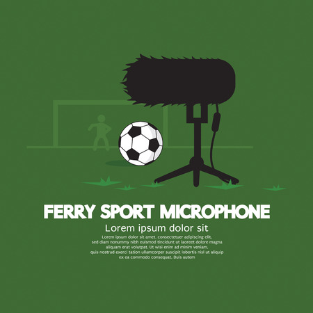 furry: Furry Sport Microphone Vector Illustration