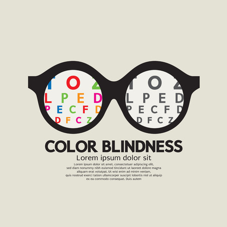 cataracts: Color Blindness Concept Vector Illustration