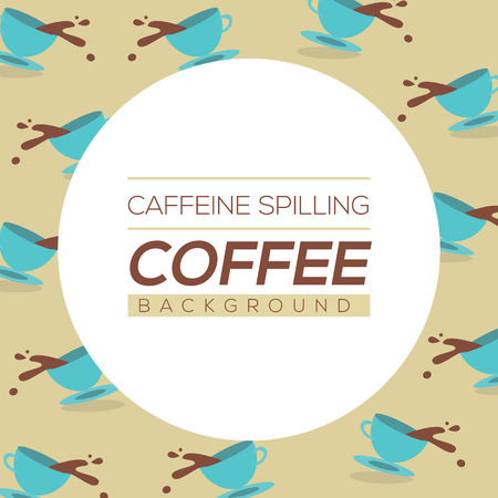 coffee spill: Coffee Spilling Background Vector Illustration