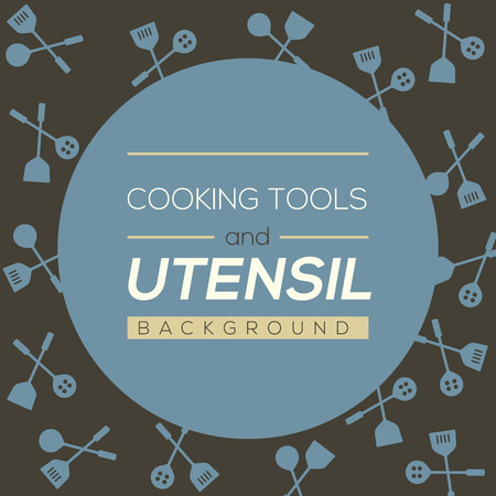 utensil: Cooking Tools And Utensil Background Vector Illustration