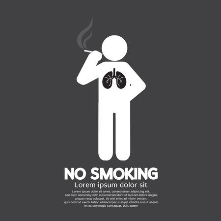 No Smoking Suscribirse Ilustración vectorial