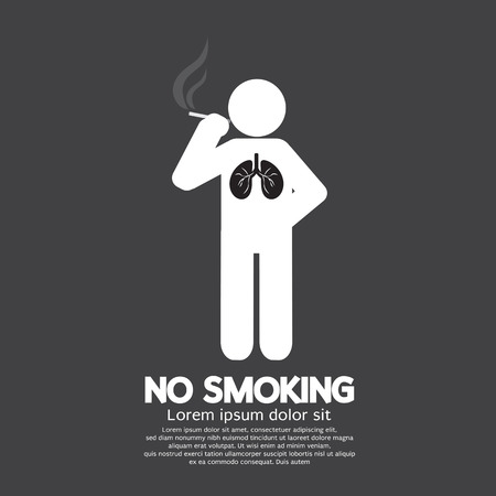 prohibido fumar: No Smoking Suscribirse Ilustración vectorial