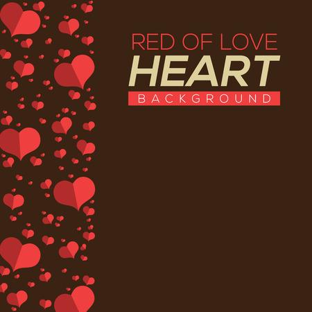 hearts background: Vintage Hearts Background Vector Illustration Illustration