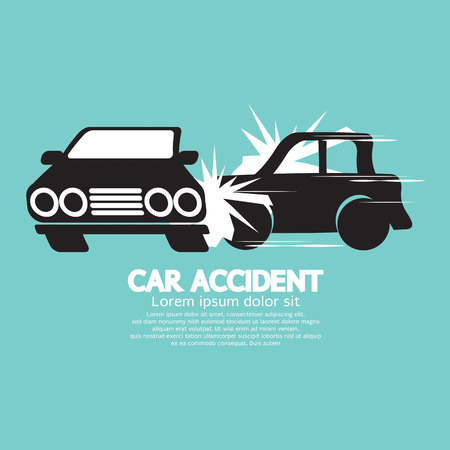 accidents: Two Cars In An Accident Vector Illustration