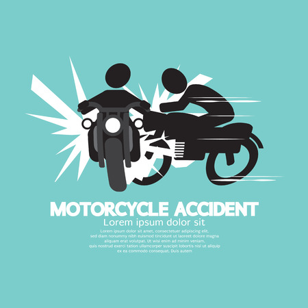a motorcycle: Motorcycle Accident Vector Illustration