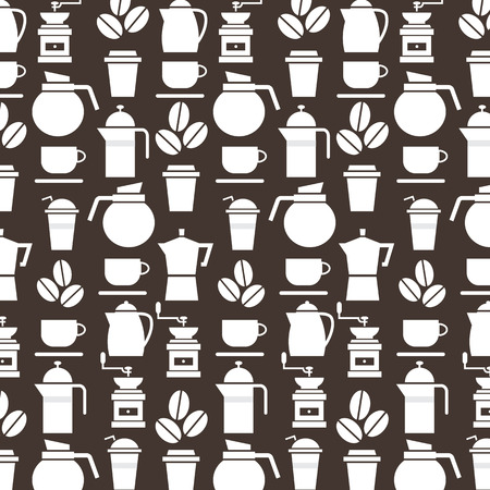 percolator: Coffee Lover Background Vector Illustration