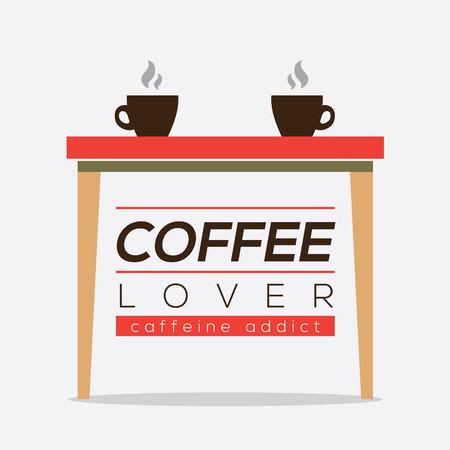 caffeine: Coffee Lover Caffeine Addice Vector Illustration