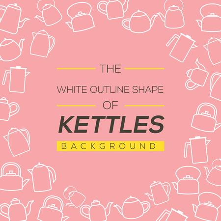 kettles: Hervidores ilustraci�n de fondo vector
