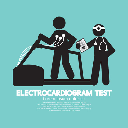 test equipment: Electrocardiogram Test Illustration