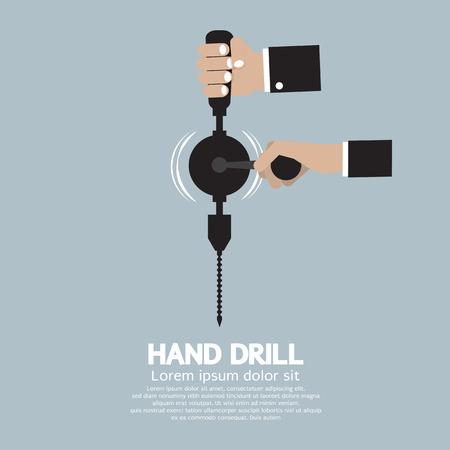 electric drill: Flat Design Hand Drill Illustration Illustration